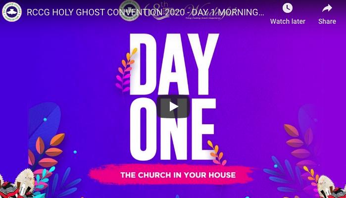 RCCG HOLY CONVENTON 2020 LIVE STREAM