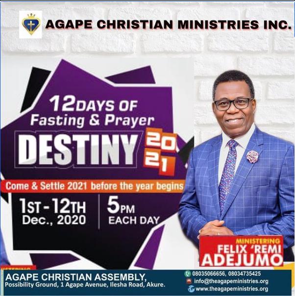 AGAPE 12 DAYS FASTING & PRAYER – DAY 3 LIVE BROADCAST