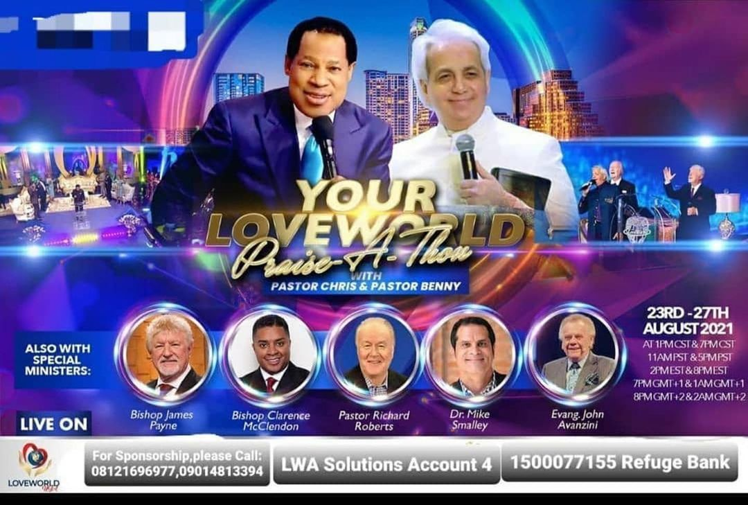 Your Love World Praise-a-thon With Pastor Chris and Benny